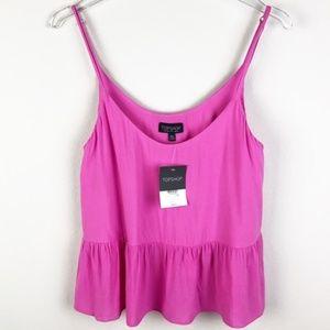 Topshop | NWT Pink Adjustable Peplum Camisole